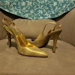 Carlos Iridescent Slingback Heels